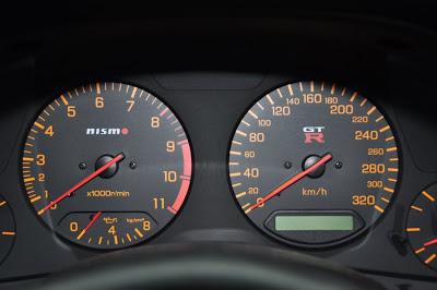 NISMO GTR 320 km/h speedo