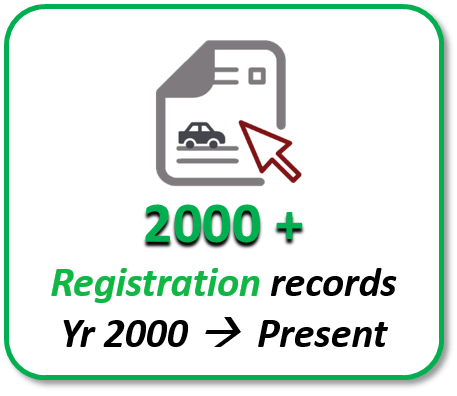 Japan Registration records from 2000 onwards